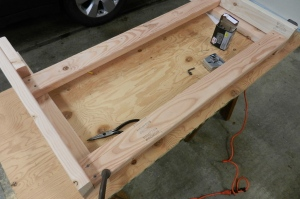 side of table with stretchers