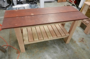 the finished table