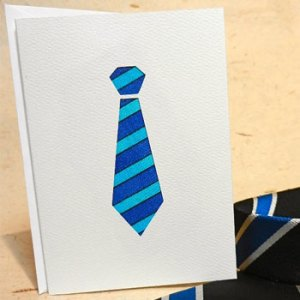 blue tie greeting card