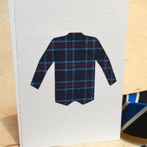 plaid shirt greeting card