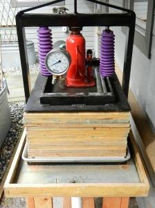 a hydraulic press